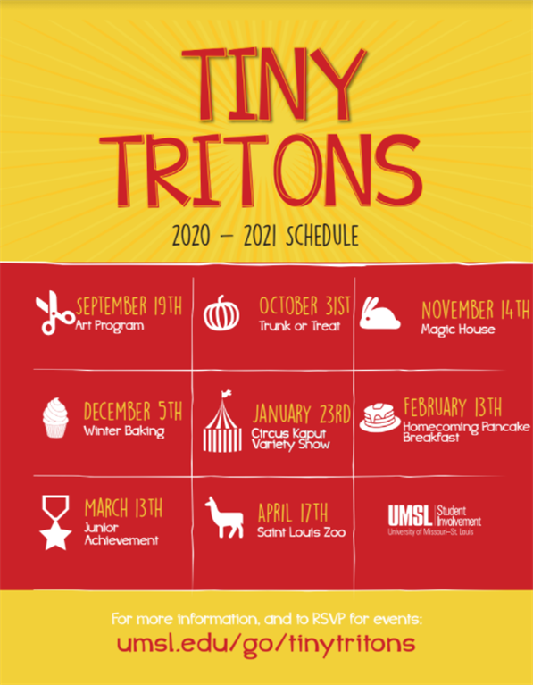 Umsl Calendar 2021 University of Missouri   St. Louis   Tiny Tritons 2020   2021 Schedule